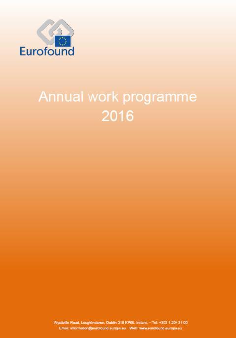 Eurofound Communication Calendar 2016