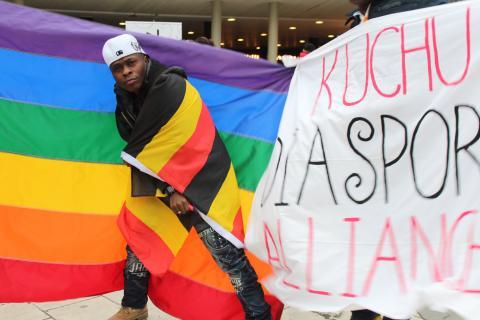 Demonstration mot Ugandas Anti Homosexuality Bill