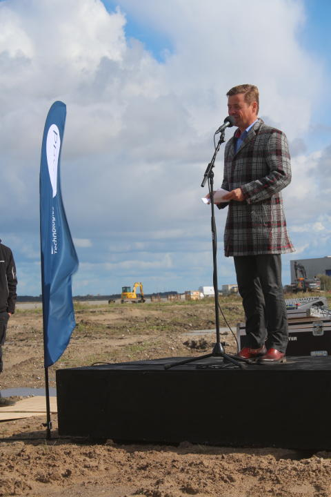 Groundbreaking at Blue World Technologies - Thomas Kastrup-Larsen, Mayor of Aalborg