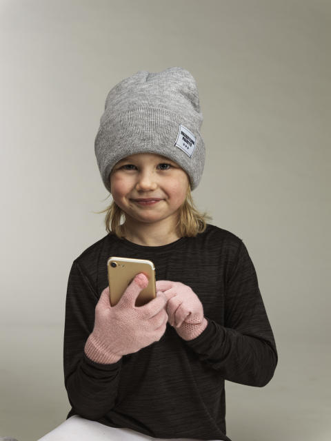 Kids knitted beanie and gloves 42763-193, 42901-193