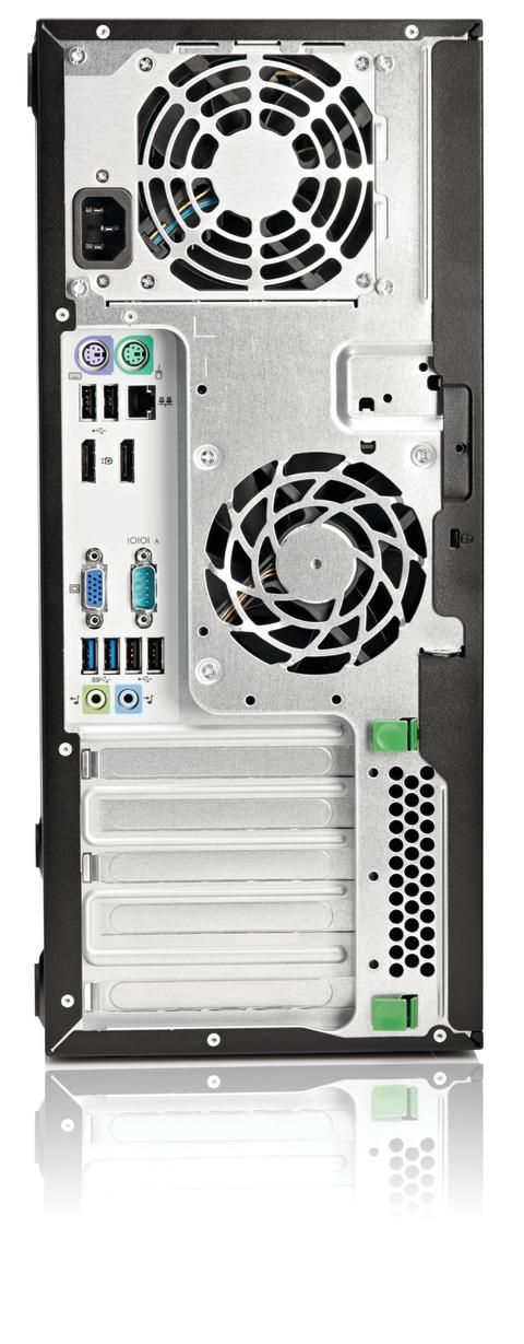 HP EliteOne 800 and ProOne 600 G1 Tower, Back facing