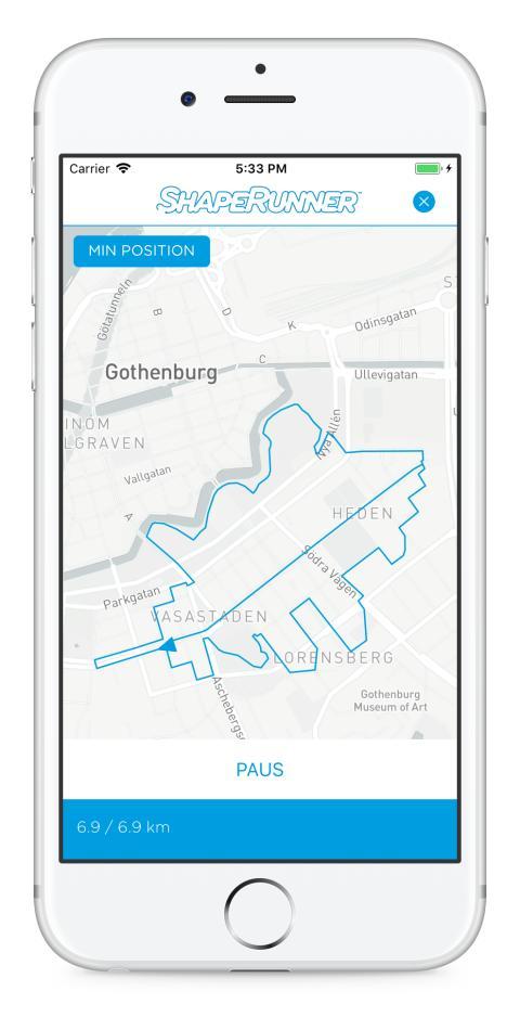 Hitta löpsteget med ett eklöv i Göteborg med appen ShapeRunner