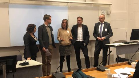 Övik Energi medverkade i riksdagsseminarium där Sveriges nationella bredbandsmål diskuterades