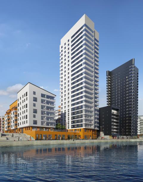 Kevius (M): Första spadtaget för 193 nya lägenheter i Årstadal