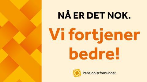 Pensjonistdemonstrasjon foran Stortinget!