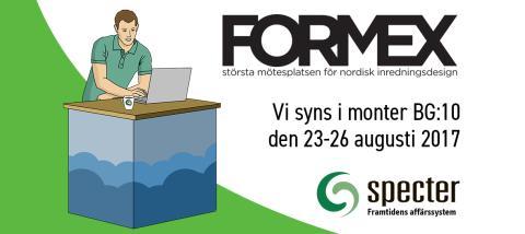 Specters nya kassasystem visas på Formex 23-26 augusti i monter BG:10