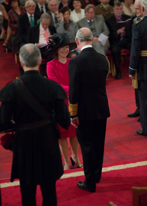 OBE ceremony at Buckingham Palace for Lucy Winskell