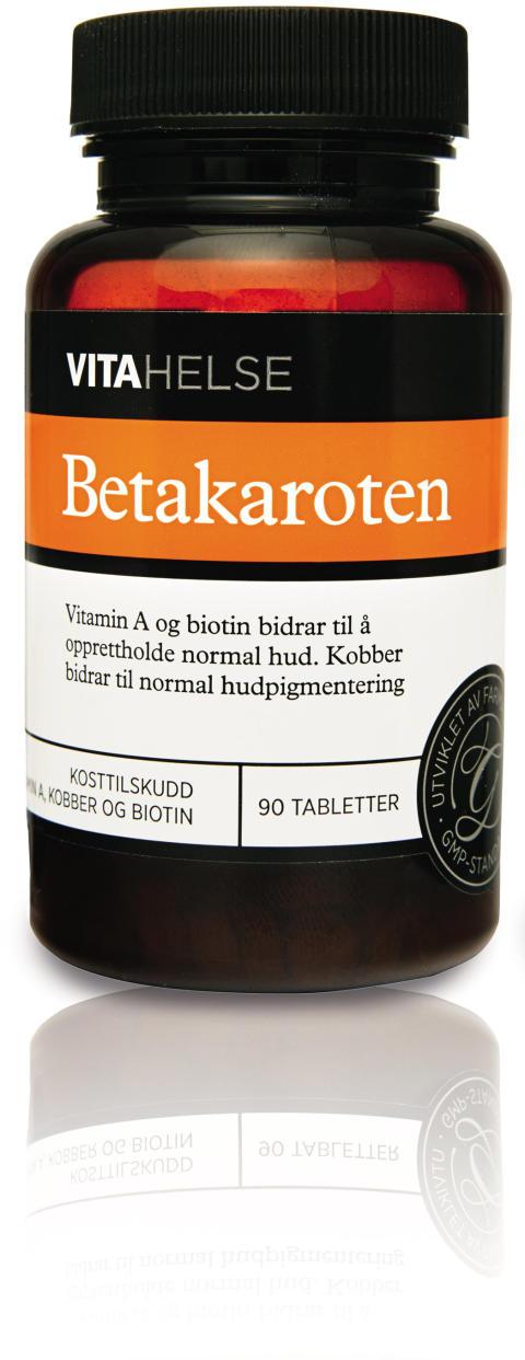 Forbered huden på sol og sommer med VITA HELSE Betakaroten