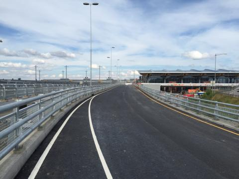 Road extension that will serve new arrivals and departures hall opens