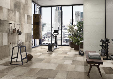 New Tiles for 2019 by Villeroy & Boch New wall and floor concept in a contemporary interpretation of concrete – WORKSHOP: Extravagance in industrial style