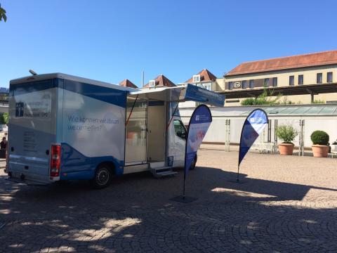 Beratungsmobil der Unabhängigen Patientenberatung kommt am 7. November nach Friedrichshafen.