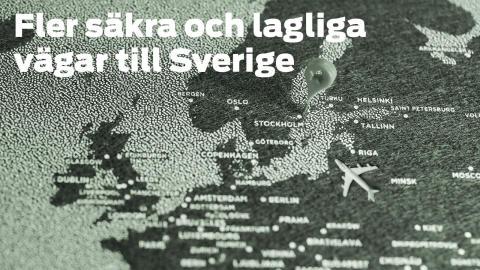 Pressinbjudan: Fler säkra och lagliga vägar till Sverige
