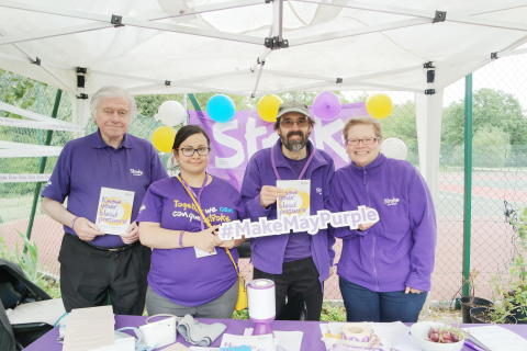 ​Battersea Park makes May purple for the Stroke Association