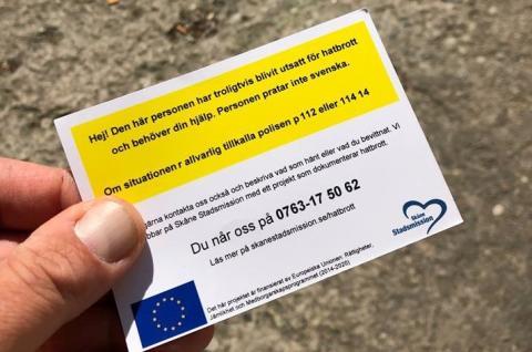 Ny studie visar: Många utsatta EU-medborgare vittnar om hatbrott – få anmäler