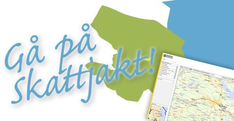 Skattjakt i samband med lansering av Skellefteå kommuns kartportal