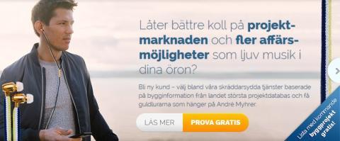 Samarbete med Glada Hudik som gemensam nämnare. Bygginformation från Sverige Bygger, André Myhrer och hörlurar från Gold-N-Stripe.