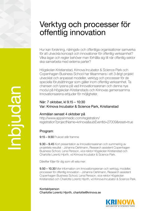 Verktyg och processer för offentlig innovation