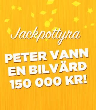 Peter från Göteborg vann en bil på bingojackpott hos Miljonlotteriet!