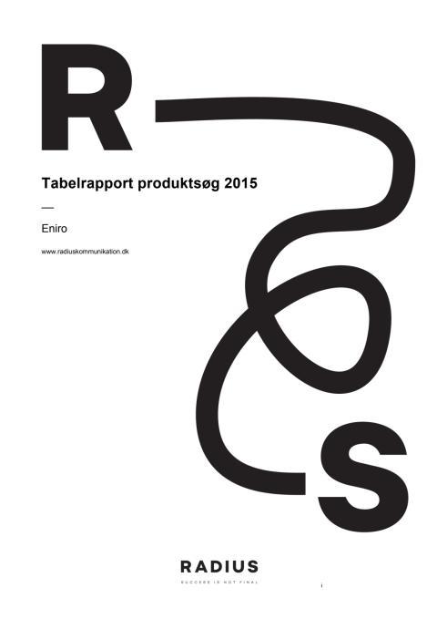 Undersøgelse af danskernes produktsøgning, 2015