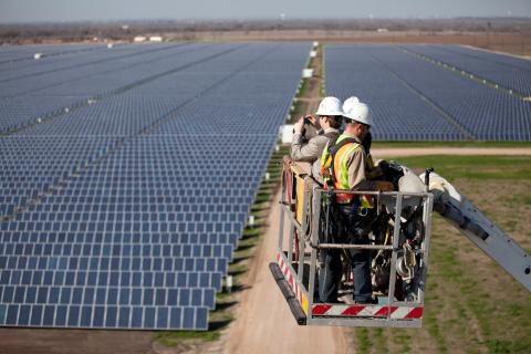 Webberville solar park, Texas