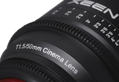 XEEN 50mm T1.5 detaljbild