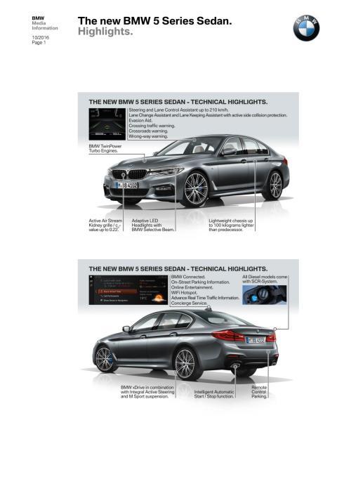 BMW 5-serie Sedan - alle relevante highlights