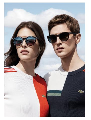 New eyewear collection from Lacoste