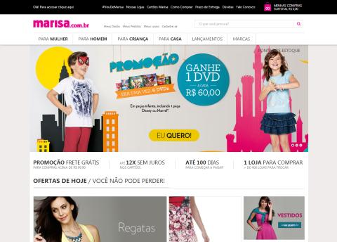 Loja virtual da Marisa lança promoções especiais