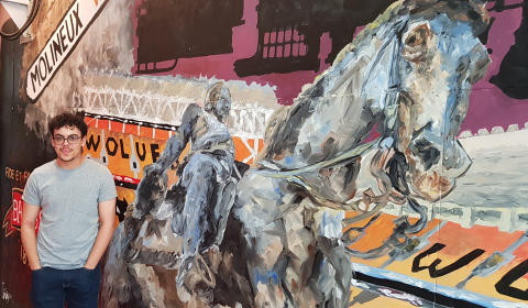 Coree Bridgen  - Wolverhampton mural artist - April 2019