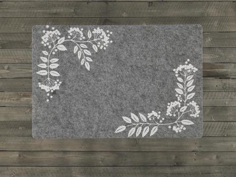 Place mat Idre Grey rowan