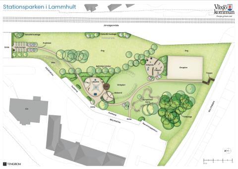 Stationsparken i Lammhult får nytt utseende