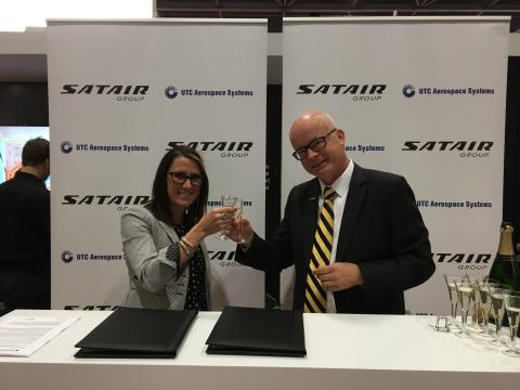 Popping the champagne at MRO Europe