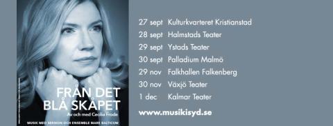 Cecilia Frode i nya föreställningen FRÅN DET BLÅ SKÅPET