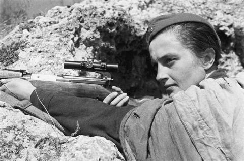 Ljudmila Pavlitjenko januari 1942
