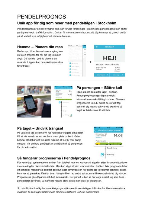 Faktablad Pendelprognos