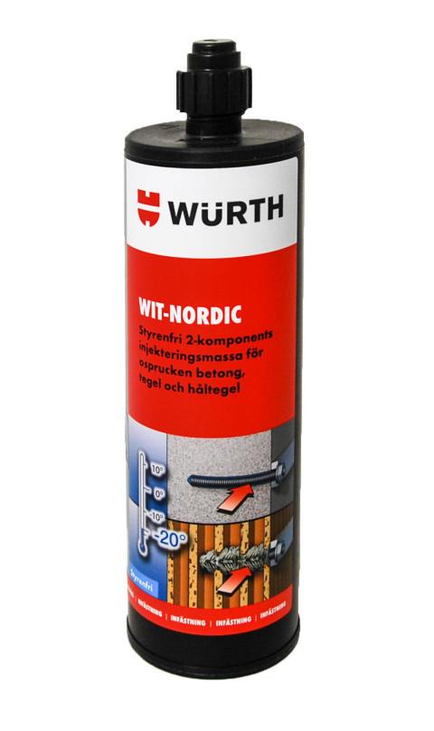 WIT-Nordic injekteringsmassa är nu ETA-godkänd för vinterbruk