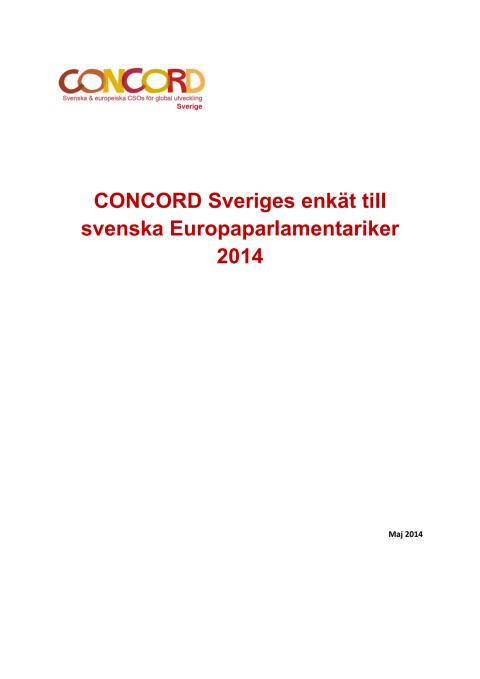 Enkät till svenska EU-parlamentariker