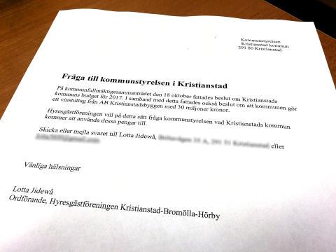 Hyresgästföreningen fortsätter bevaka vinstuttaget ur ABK