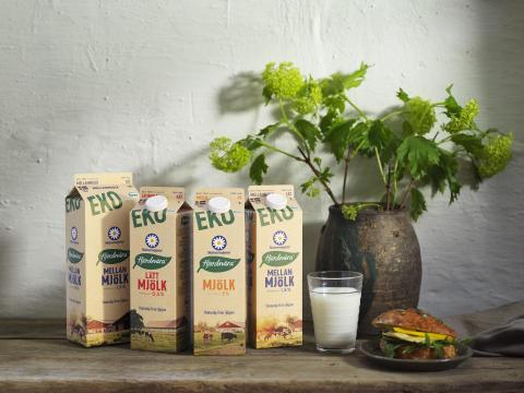Skånemejeriers ekomjölk byter till koldioxidneutral förpackning