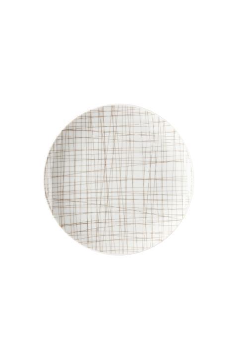 R_Mesh_Line Walnut_Plate 19 cm flat
