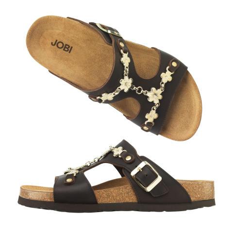 Sandal / toffel med gulddekor