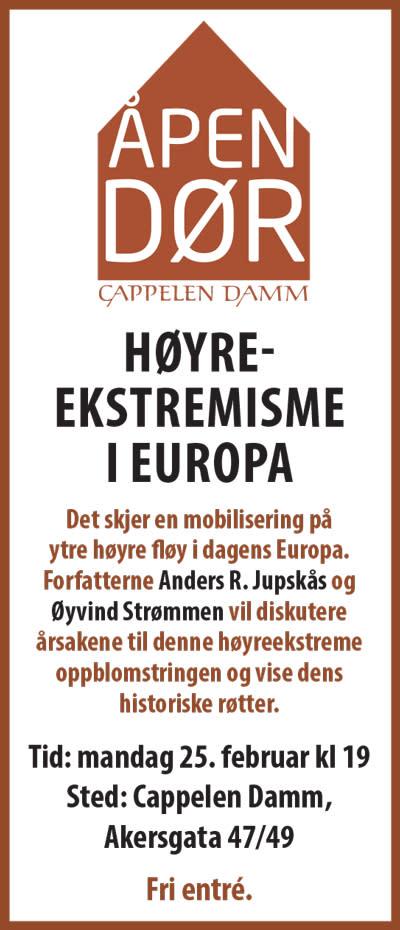 Velkommen til Åpen dør: Høyreekstremisme i Europa