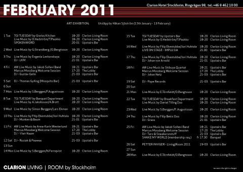 Eventkalender Februari 2011