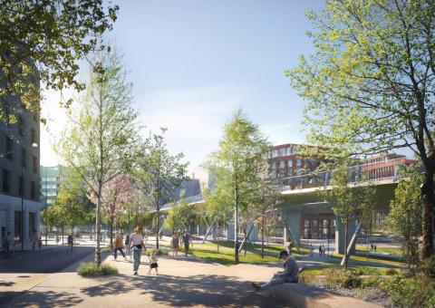 De nya gatorna och parkerna är utformade för att ta vara på det naturen skänker oss gratis, som att rena regnvatten, det som kallas ekosystemtjänster.