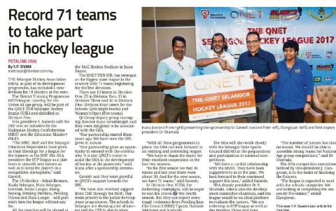Record 71 teams to take part in hockey league