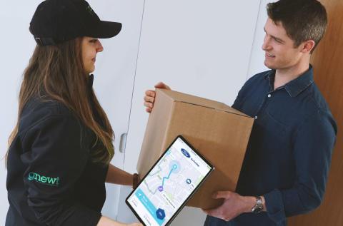 Neuer Ansatz von Ford optimiert Paketlieferungen