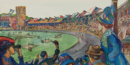 Den femte olympiaden invigs på Riksidrottsmuseet
