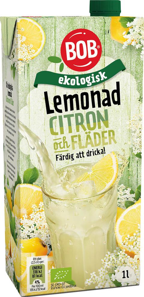 BOB Ekologisk Lemonad Citron Fläder