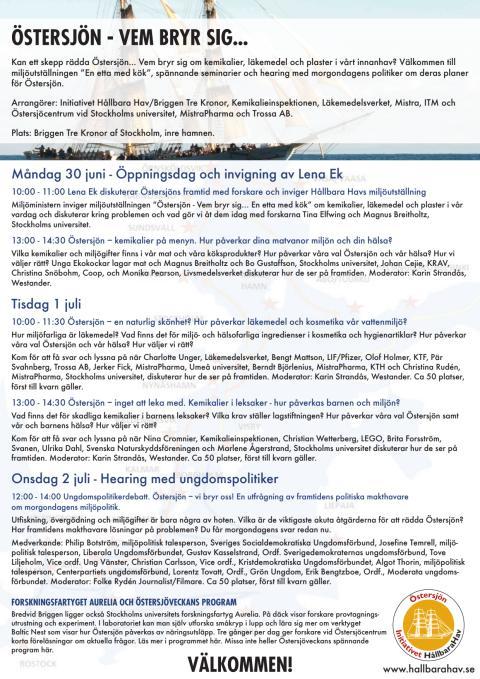 Välkommen till Initiativet Hållbara Hav och Briggen Tre Kronor under Almedalsveckan