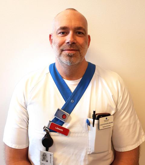 Tobias Eriksson, chefsöverläkare vid beroendemedicinska mottagningen, Akademiska sjukhuset